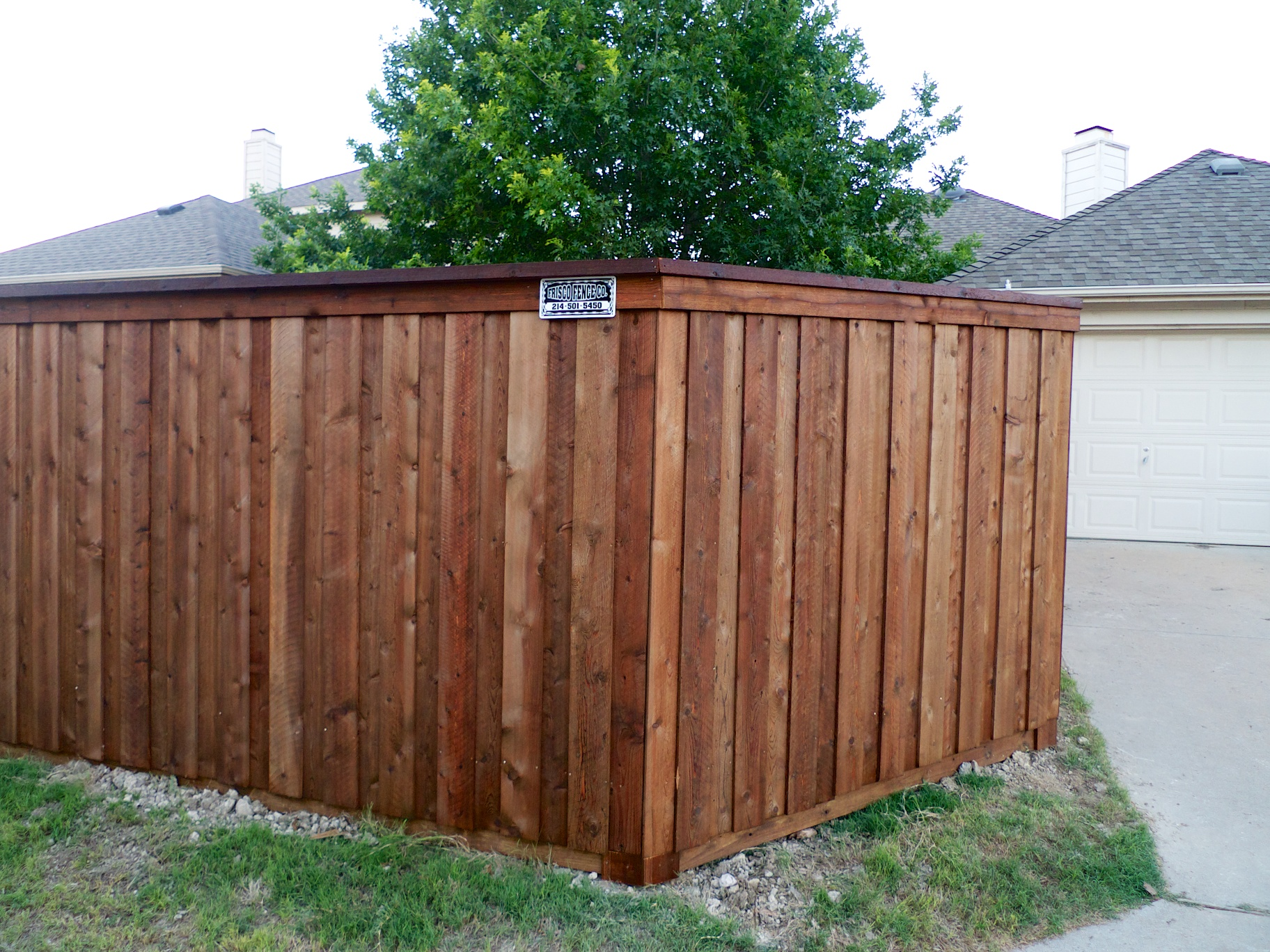Mckinney Fence New Cedar Fence For Mckinney Customer