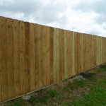 Celina Fence-today we finished a spruce side by side fence at a rent house in Celina.
