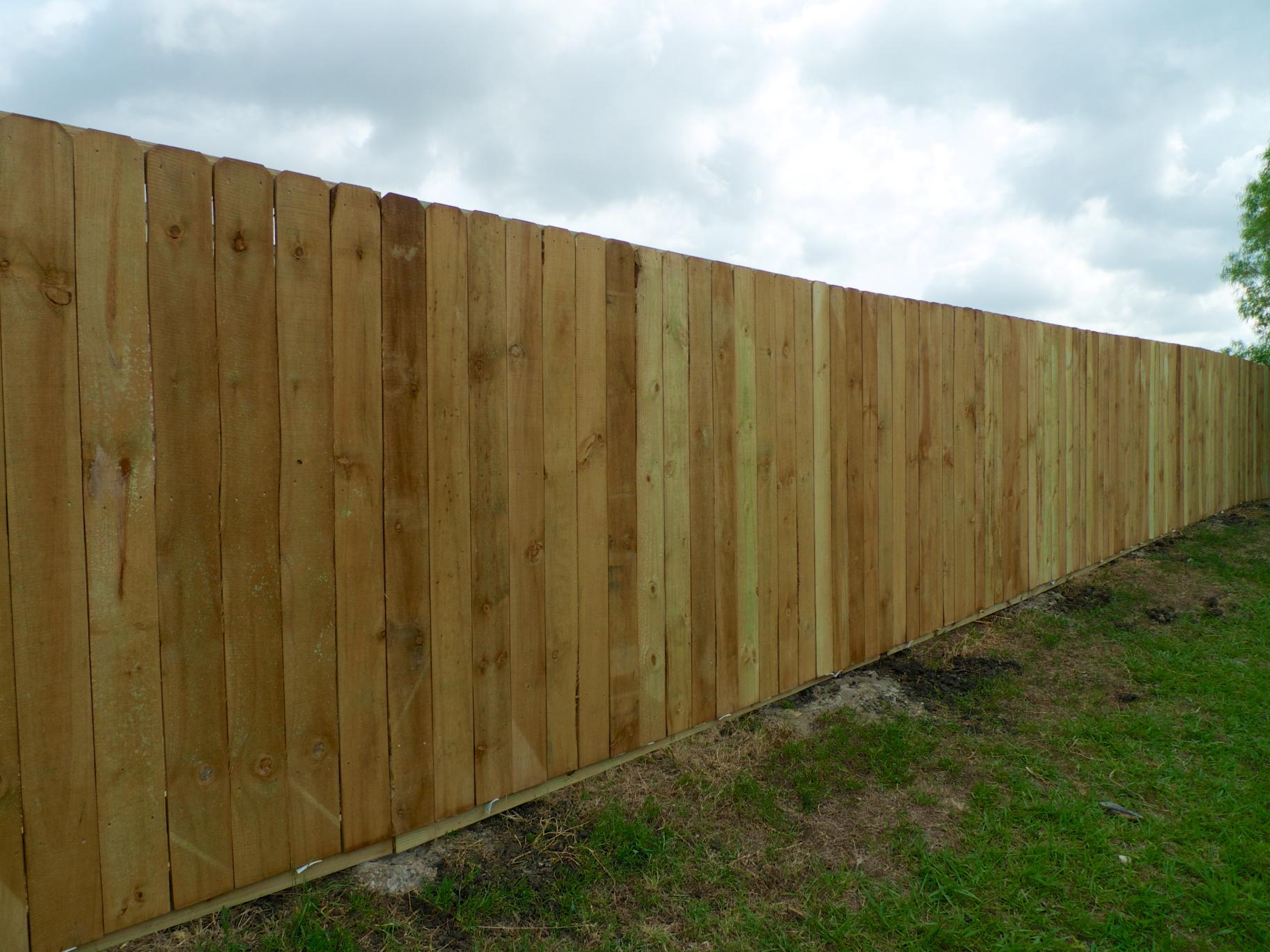 Celina Fence Today We Finished A Spruce Side By Side Fence