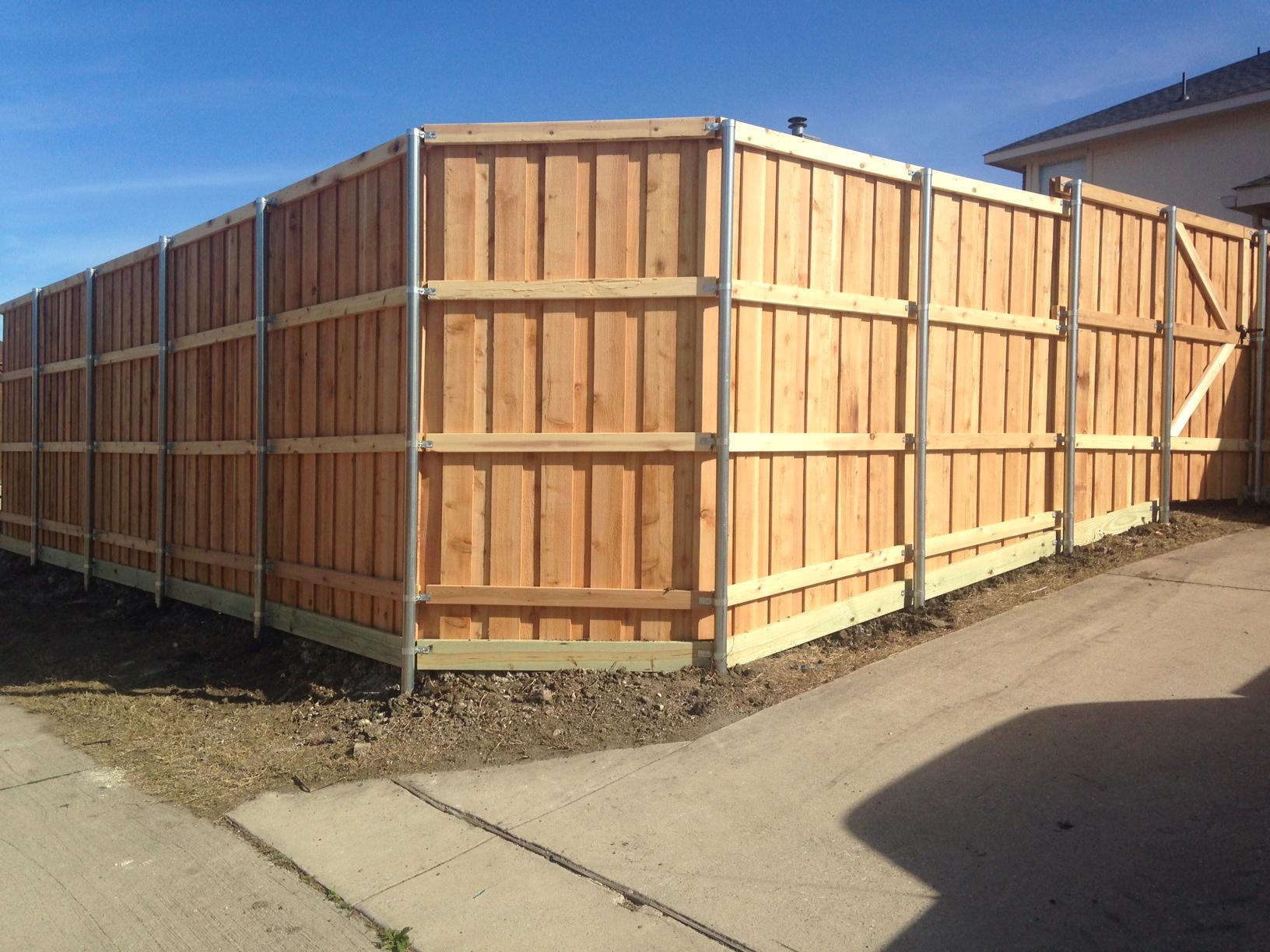 New 8 Foot Board On Board Cedar Fence In Allen Frisco