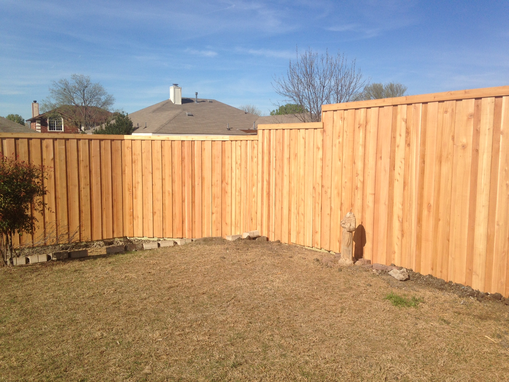 New 8 Foot Board On Board Cedar Fence In Allen Frisco
