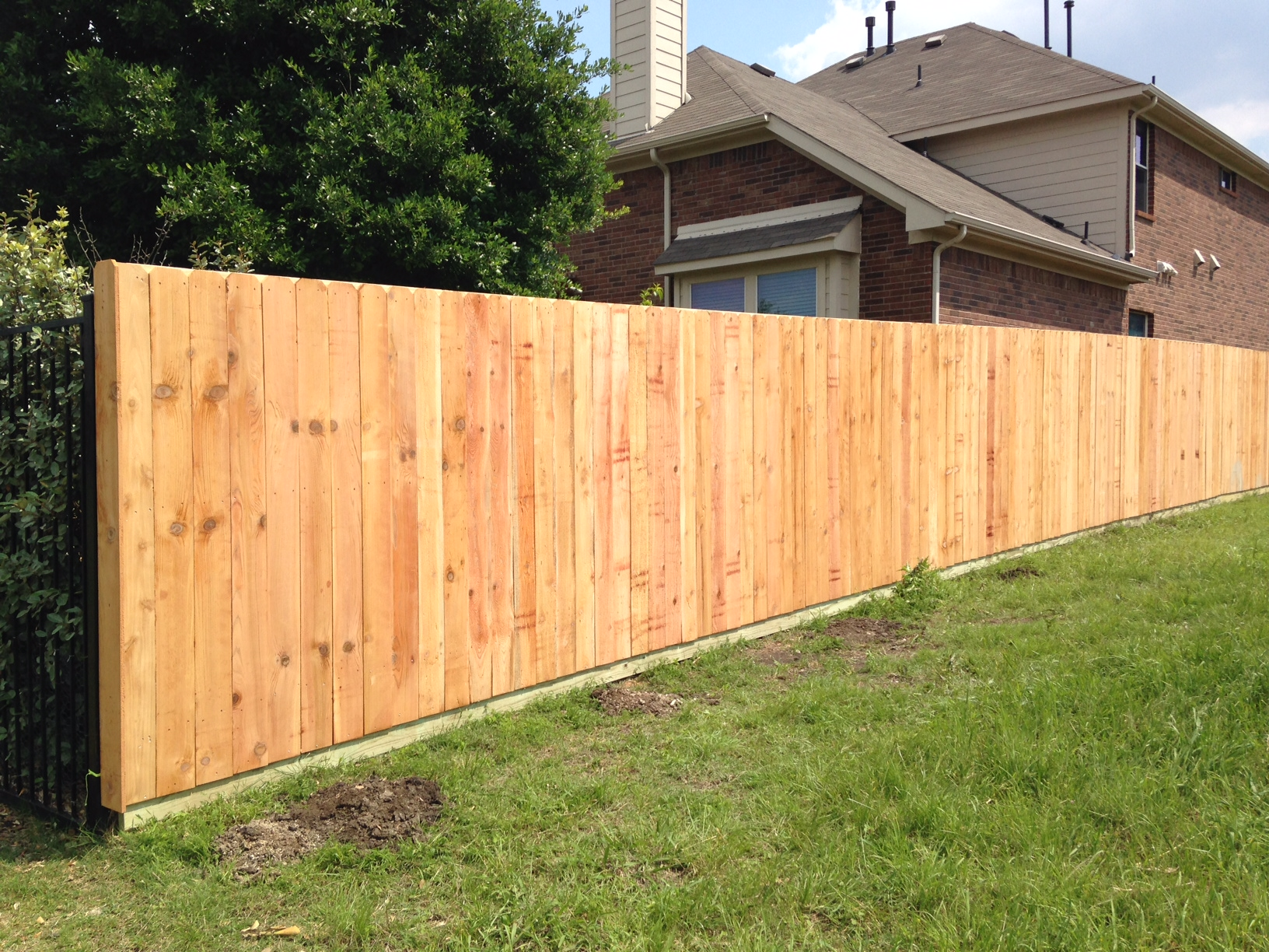 New Six Foot Unstained Cedar Fence In Panther Creek