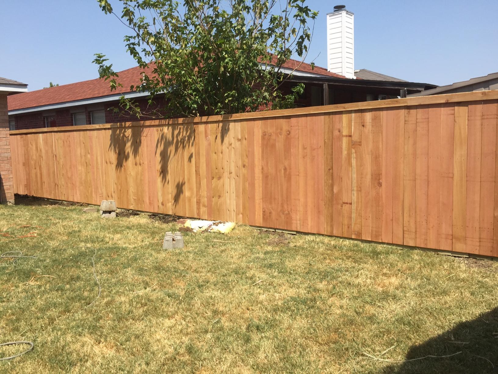 New Cedar Side By Side Fence In Little Elm Frisco Fence Llc