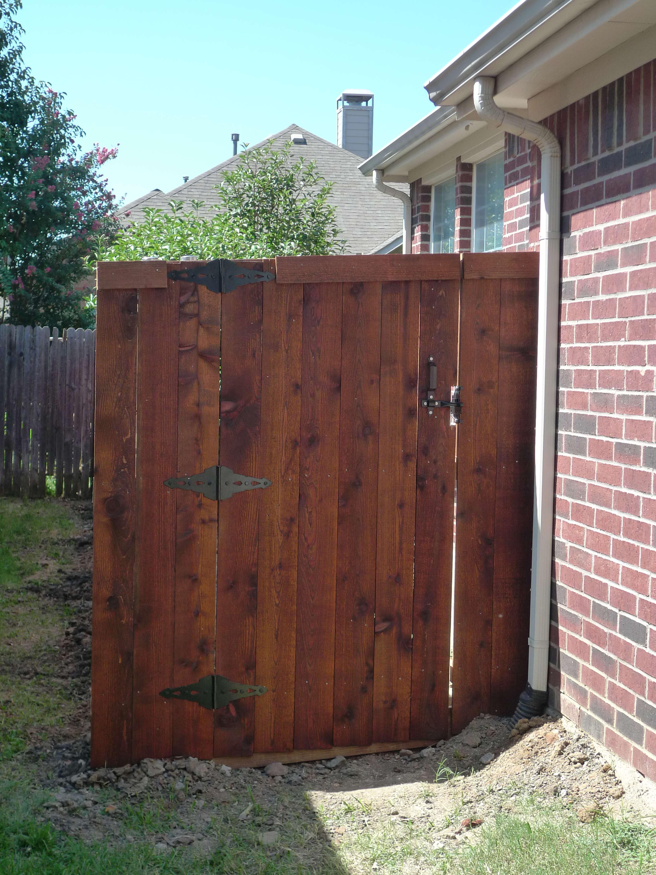 Stained Six Foot Side By Side Cedar Fence In Little Elm