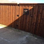 6 Foot Pre-stained Cedar, w/ Trim and Wrought Iron Gate Design