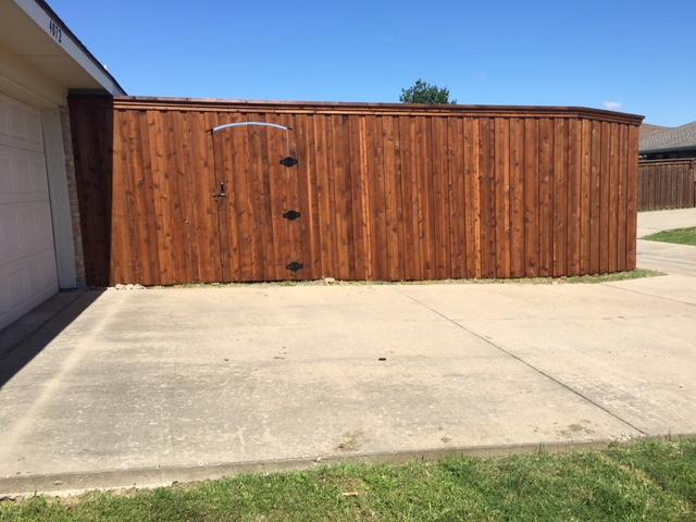 8 Foot Fence W Trim In Frisco Frisco Fence Llc